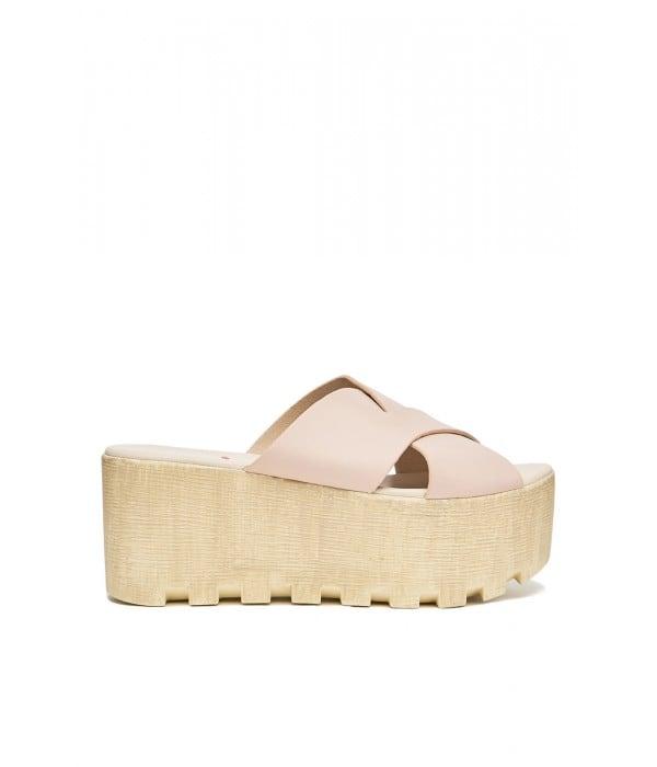 Bibi Pink-Beige Leather