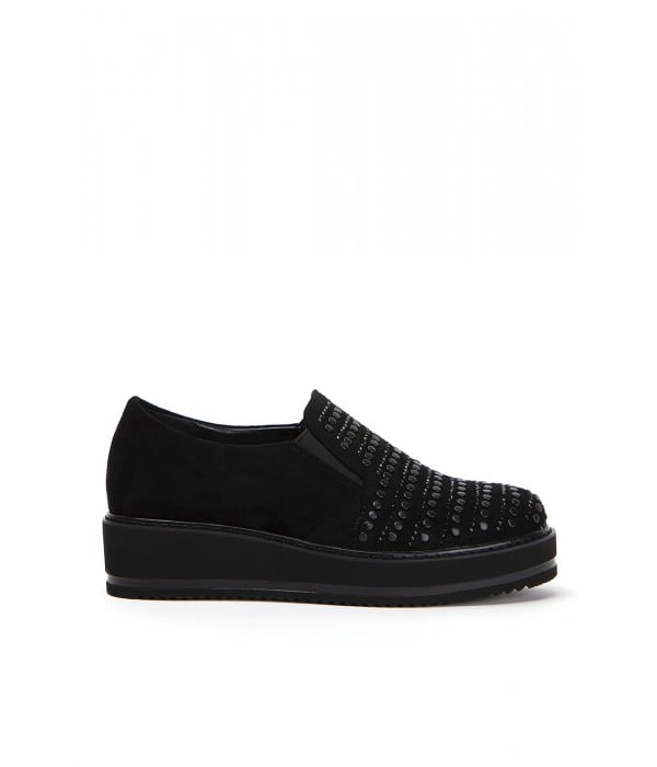 Dot Black Suede