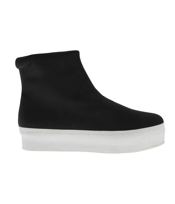 Μαύρο υφασμάτινο sneaker μποτάκι