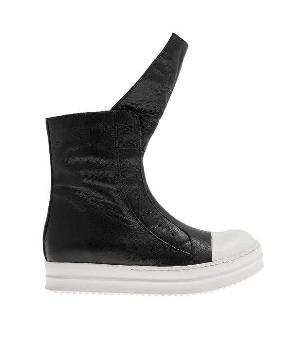 Μαύρα δερμάτινα sneaker μποτάκια