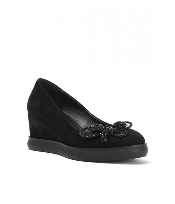 Manace Black Suede