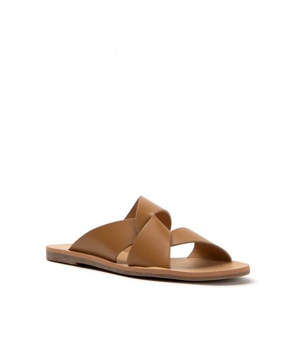 Milos Tan Leather