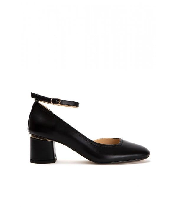 Santina Black Leather