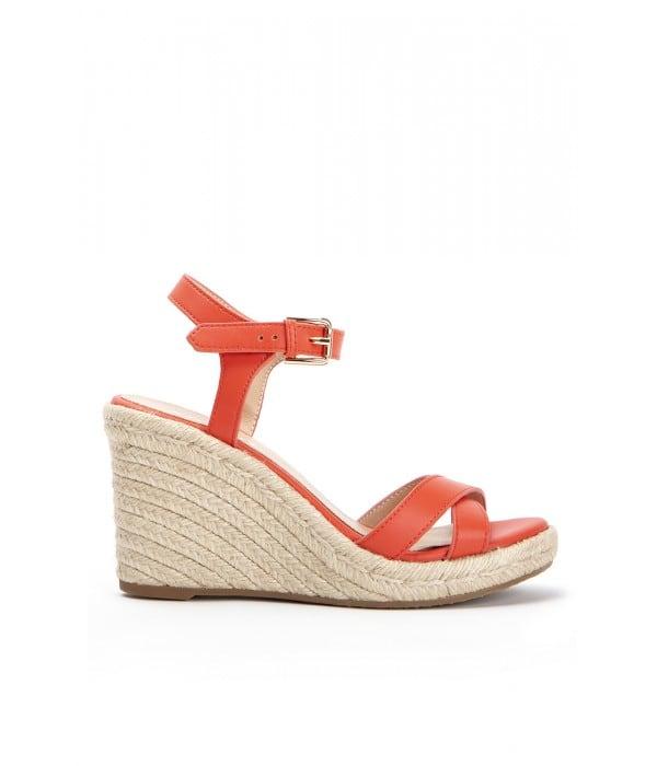 Kumquat Coral Leather