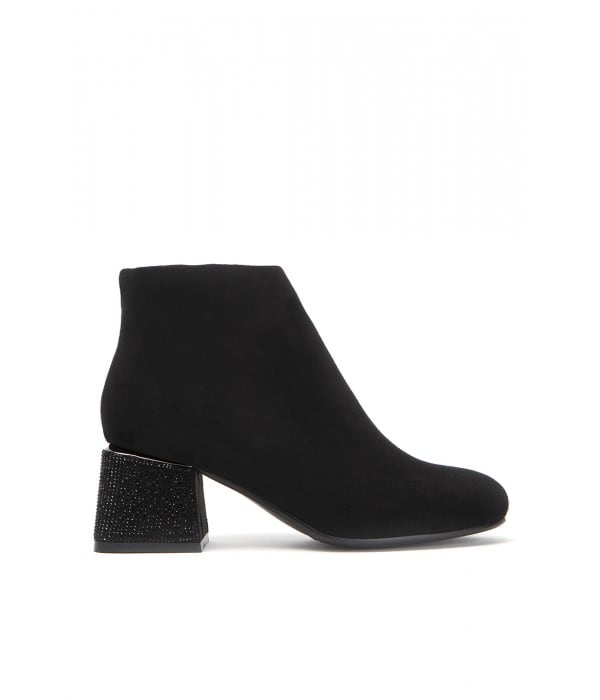 Belle Black Suede