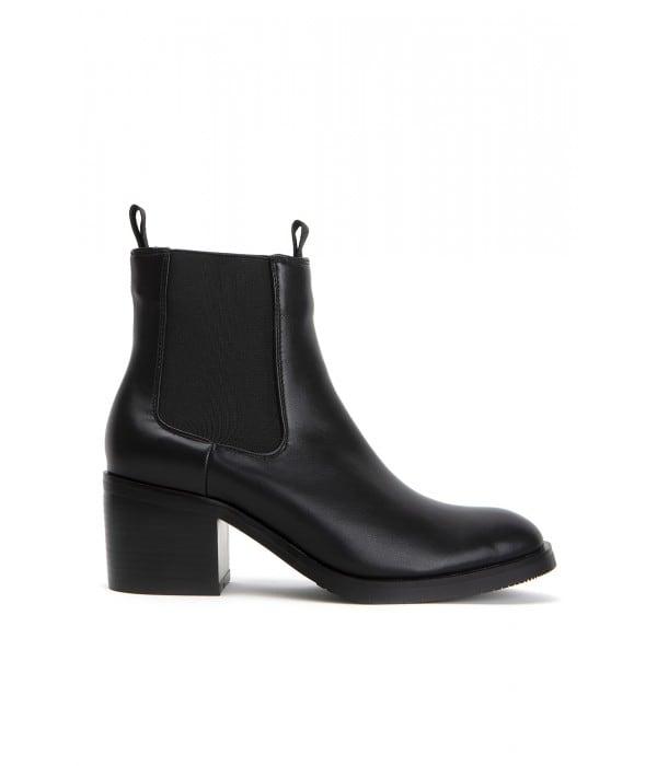 Seren Black Leather
