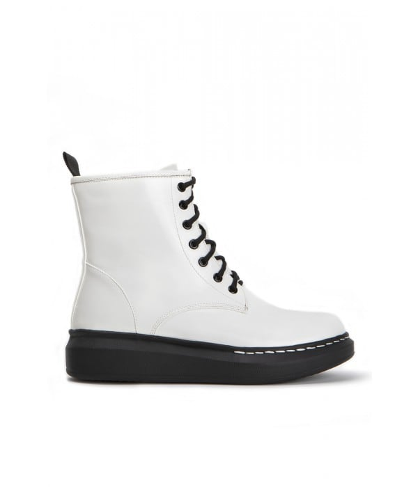 Malloy White Leather