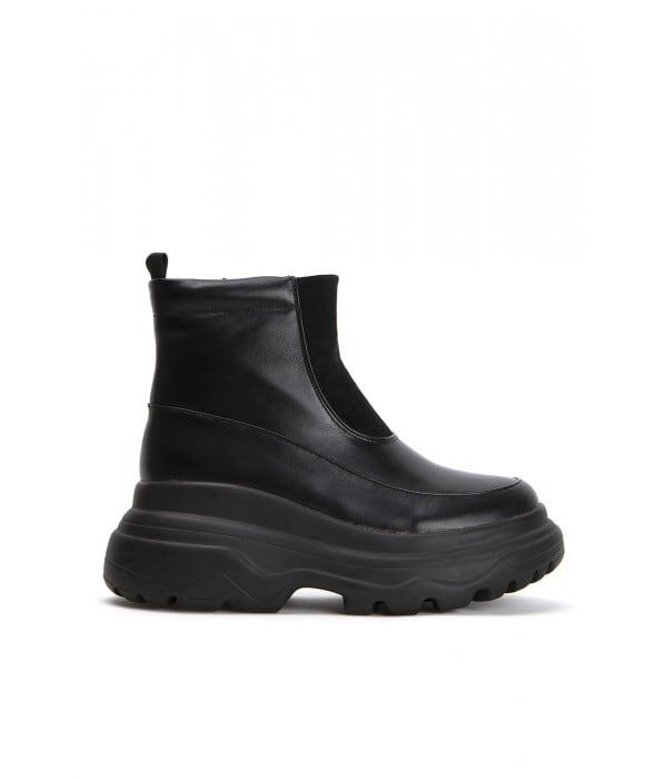 Square Black Leather