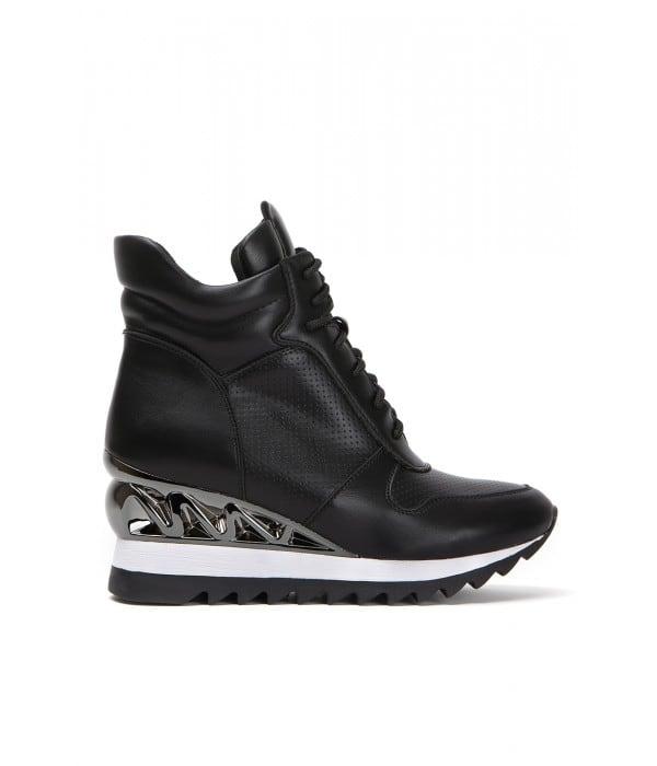 Haela Black Leather