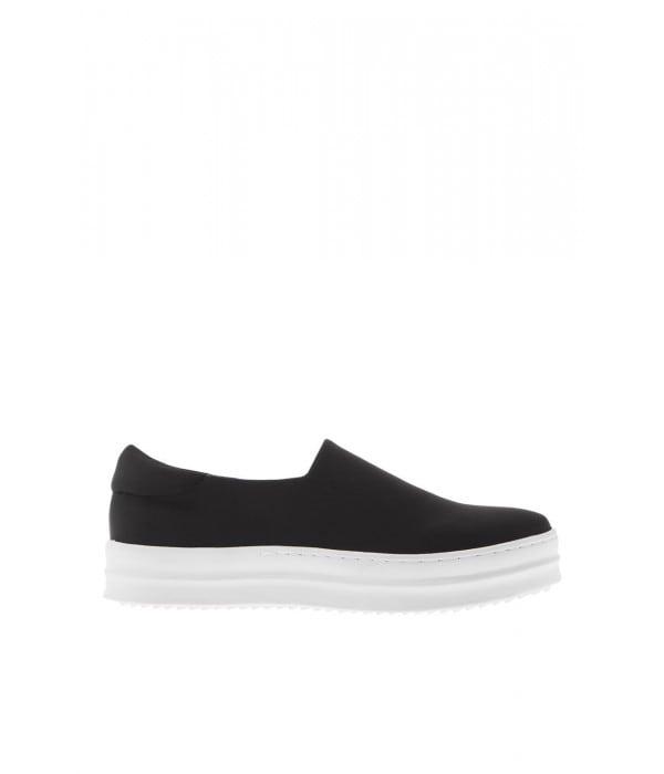 slip-on sneaker μαύρο