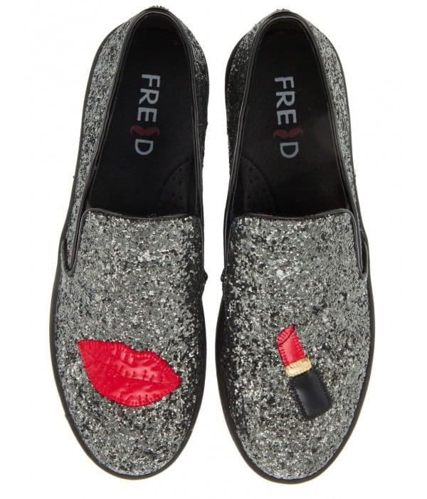 slip-on sneakers με glitter