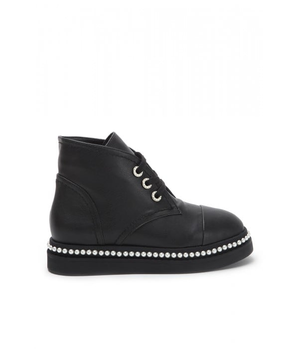 Inez Black Leather