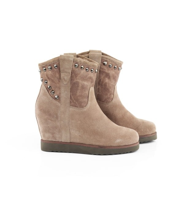 Crowded Taupe Suede