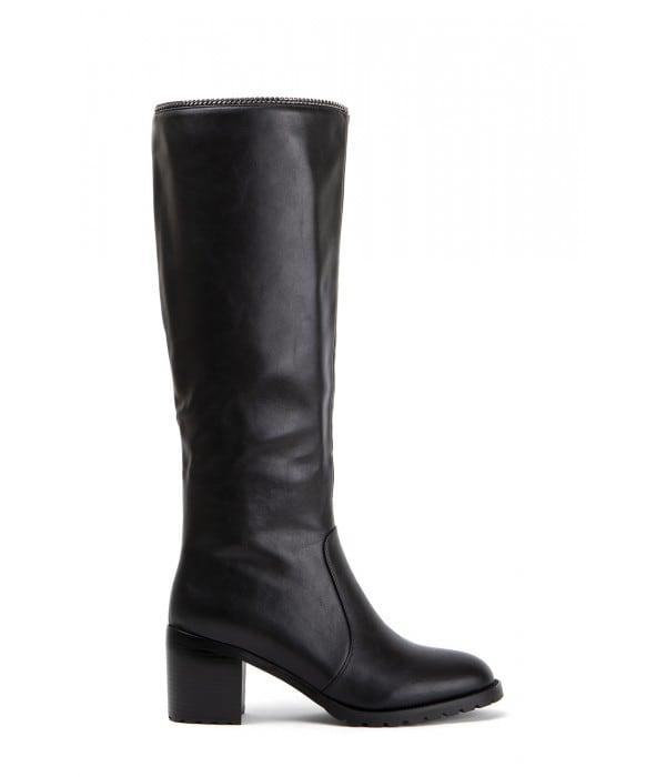 Deby Black Leather