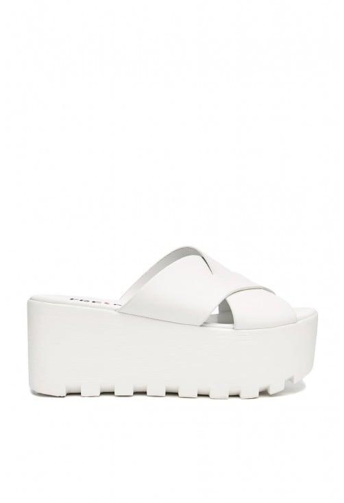 Bibi White Leather