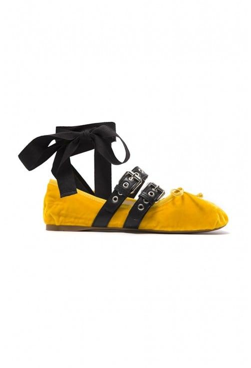 Romy Yellow Velvet