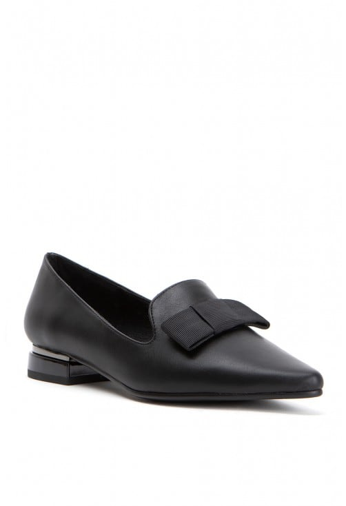 Jean Black Leather