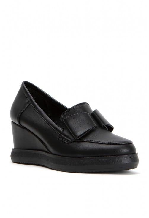 Davia Black Leather