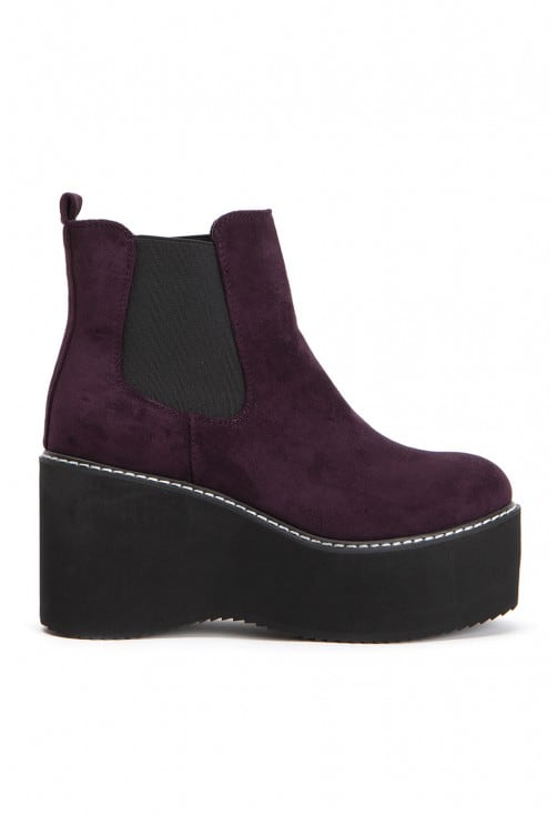 Everly Maroon Suede