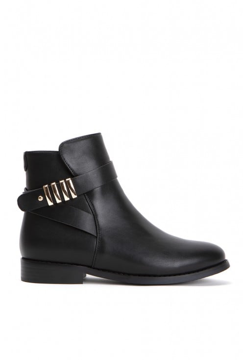 Polka Black Leather