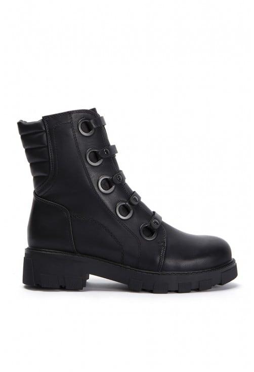 Rica Black Leather