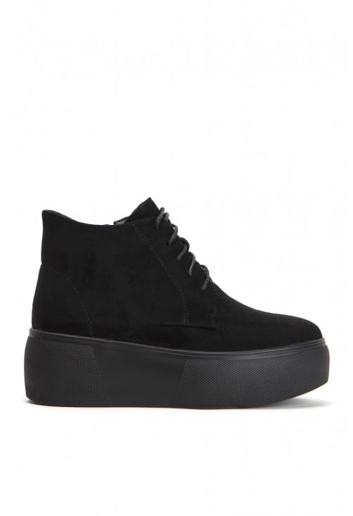 Bow Black Suede