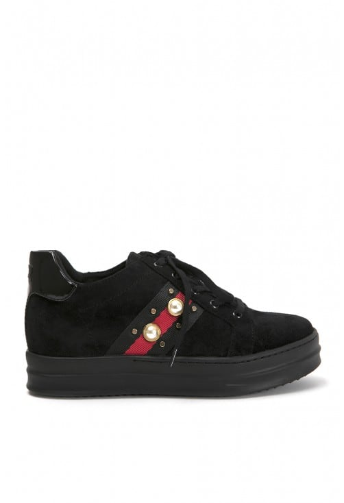 Kitty Black Suede