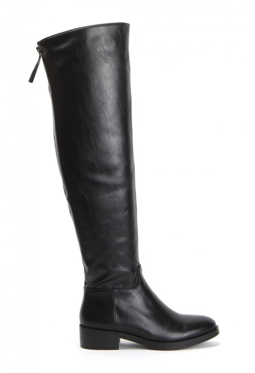 Perry Black Leather
