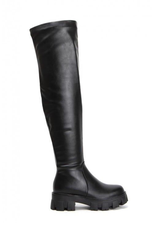 Hunter Black Leather