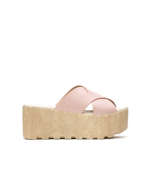 Bibi Pink-Beige Leather