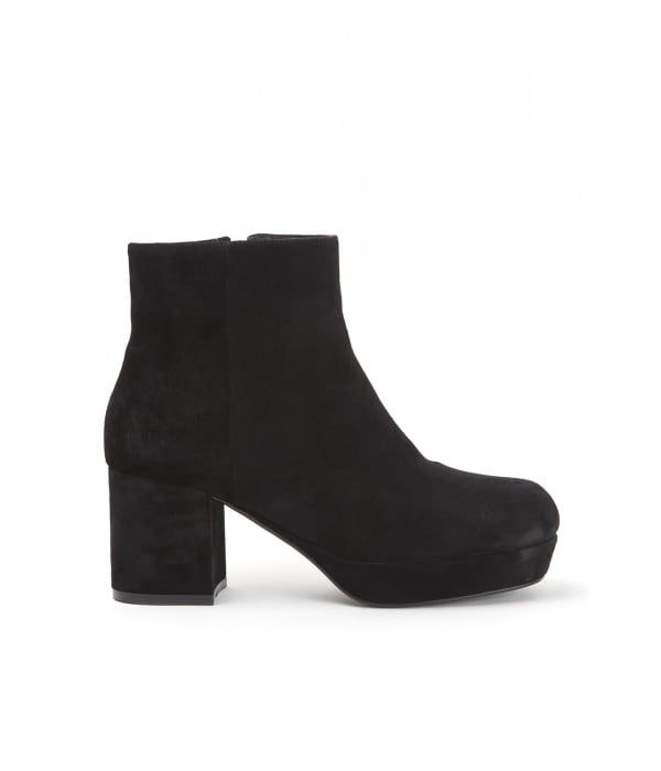 Dames Black Suede