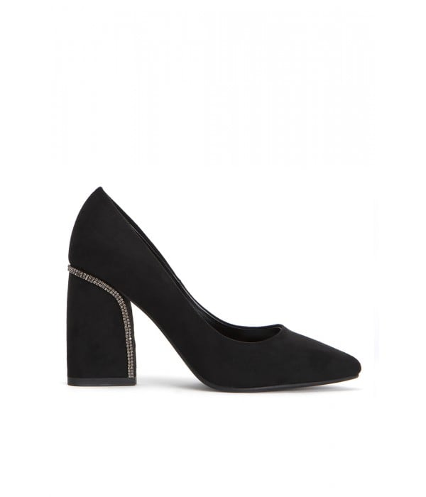 Lily Black Suede