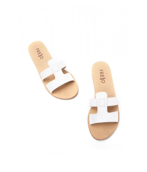 Syros White Leather