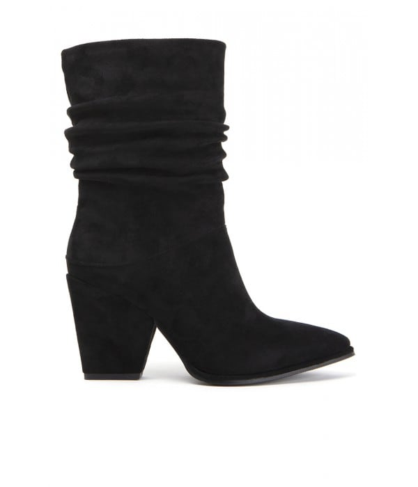 Smither Black Suede