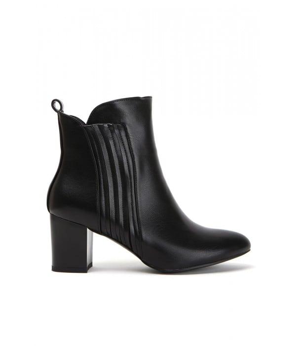 Marple Black Leather