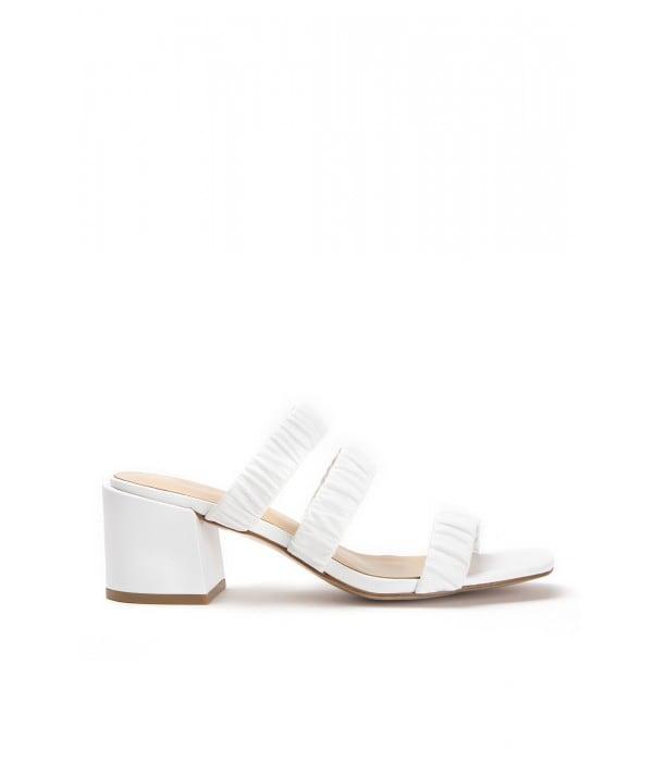 Mango White Leather
