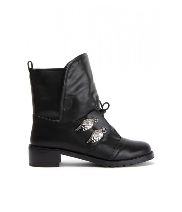 Madine Black Leather