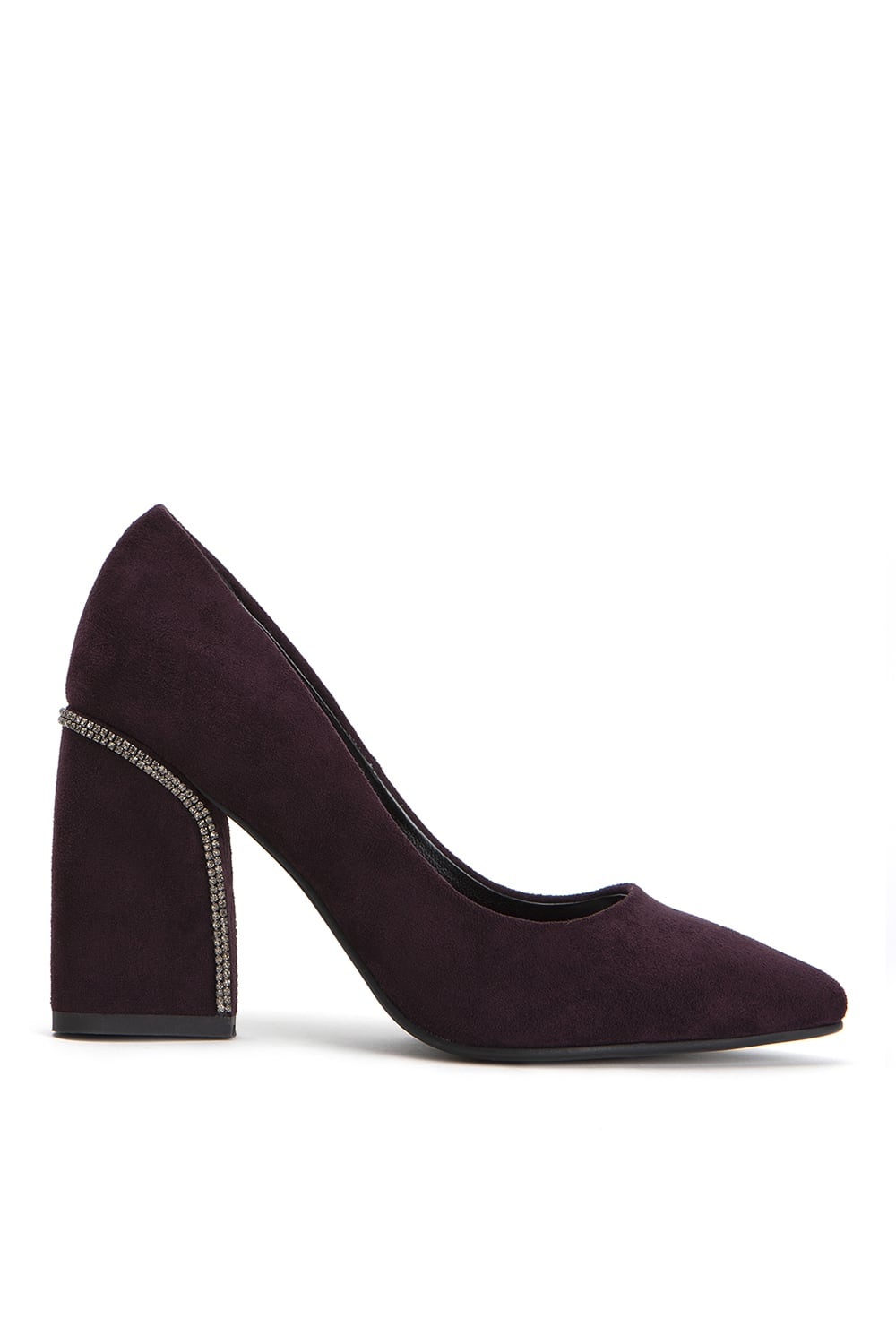 Lily Maroon Suede