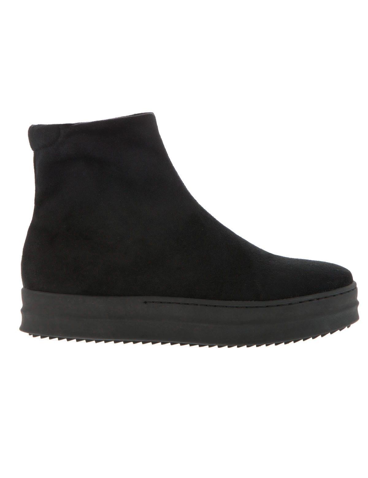 Lara Black Suede mrs fred   sneakers