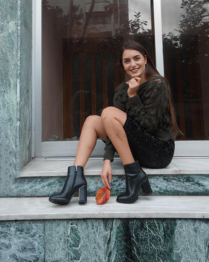 Porto Black Leather
