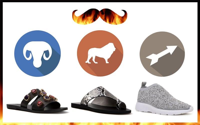 Ζώδια της φωτιάς κατάλληλα παπούτσια