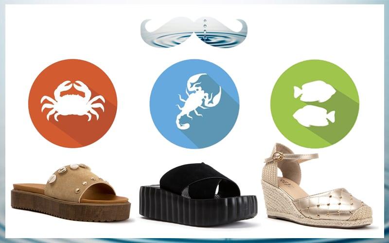 Ζώδια του νερού στιλάτα παπούτσια σύμφωνα με ταχαρακτηριστικά σας